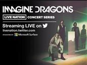 Imagine Dragons : un concert sur Twitter, sponsorisé par Microsoft Surface accessible dans deux pays