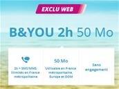 Forfait B&You2h, SMS/MMS illimités et 50 Mo de data pour 0,99 € pendant un an