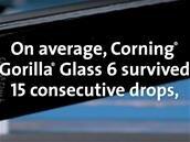 Le Gorilla Glass 6 de Corning supporte plusieurs chutes