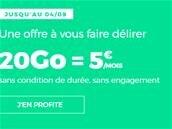 Forfait RED de SFR avec 20 Go de 4G : 5 € par mois, sans limite de durée