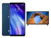 """LG G7 ThinQ avec TV 32"""" LG32LK510 à 499 euros"""
