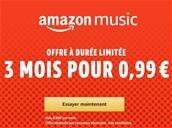 Amazon Music Unlimited pour 0,99 € par mois pendant 3 mois