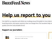 BuzzFeed News lance un abonnement à 5 dollars par mois, 100 dollars par an