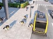 La livraison du futur par Continental : un véhicule autonome transportant des robots-chiens autonomes