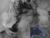 Sentinelle 1 prend en photo la marée noire occasionnée par Grande America