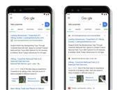 Recherches sur mobile : Google met mieux en avant le nom du site, contrairement aux publicités