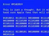 Apple a inséré un « BSOD » et un message « caché » dans le résumé de sa conférence