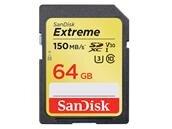 SDXC SanDisk Extreme de 64 Go (150 Mo/s, U3) : 18,40 €