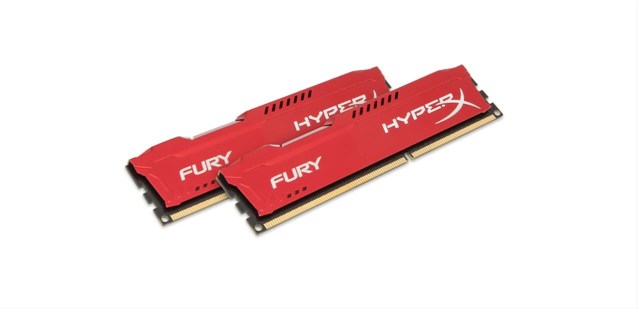 16 Go de DDR3 Kingston HyperX FURY Red à 1 866 MHz : 58,99 €