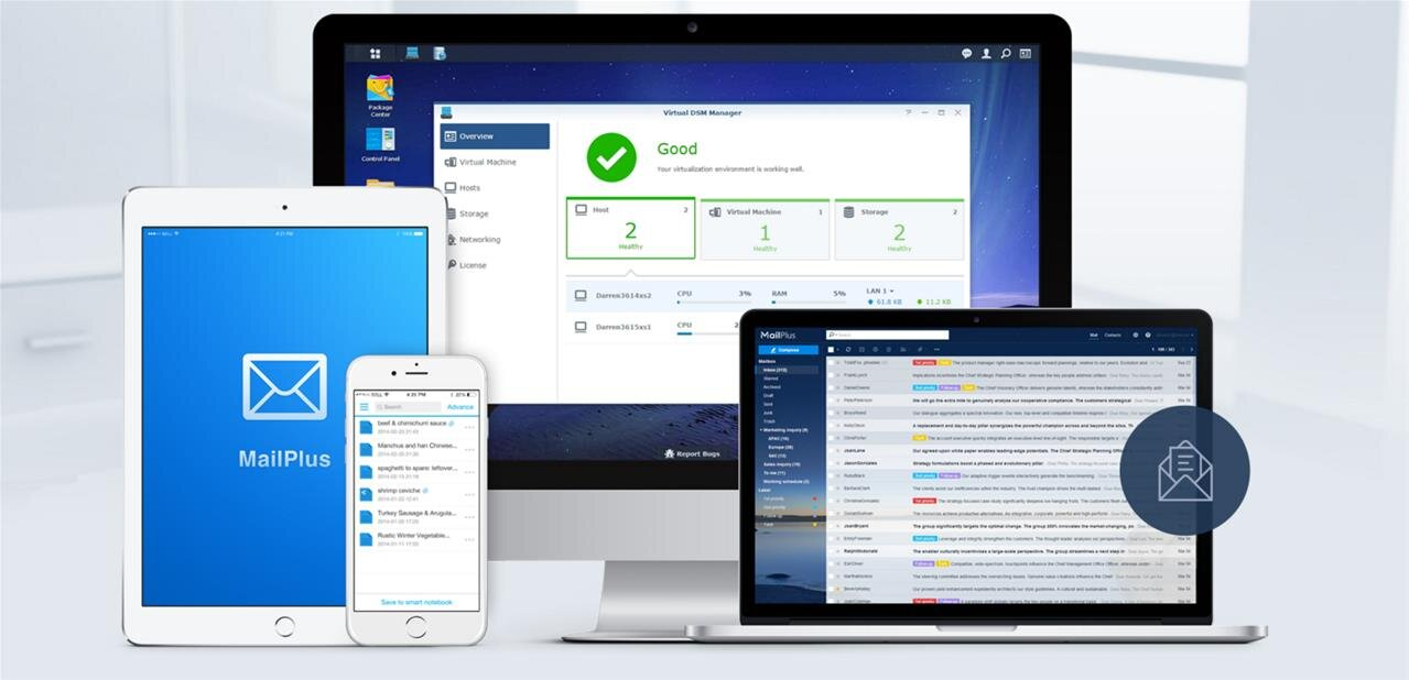 Synology : DSM 6.2 bêta 2, les versions officielles de Drive, Moments et Office disponibles