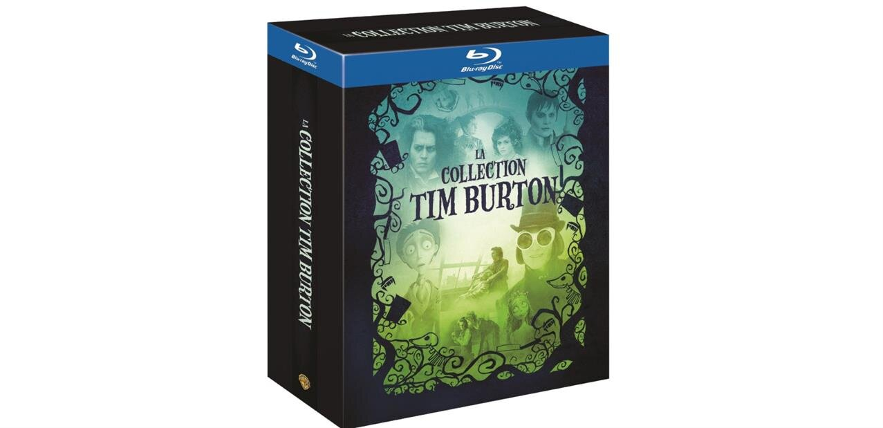 La Collection Tim Burton (4 Blu-ray) pour 13,99 €