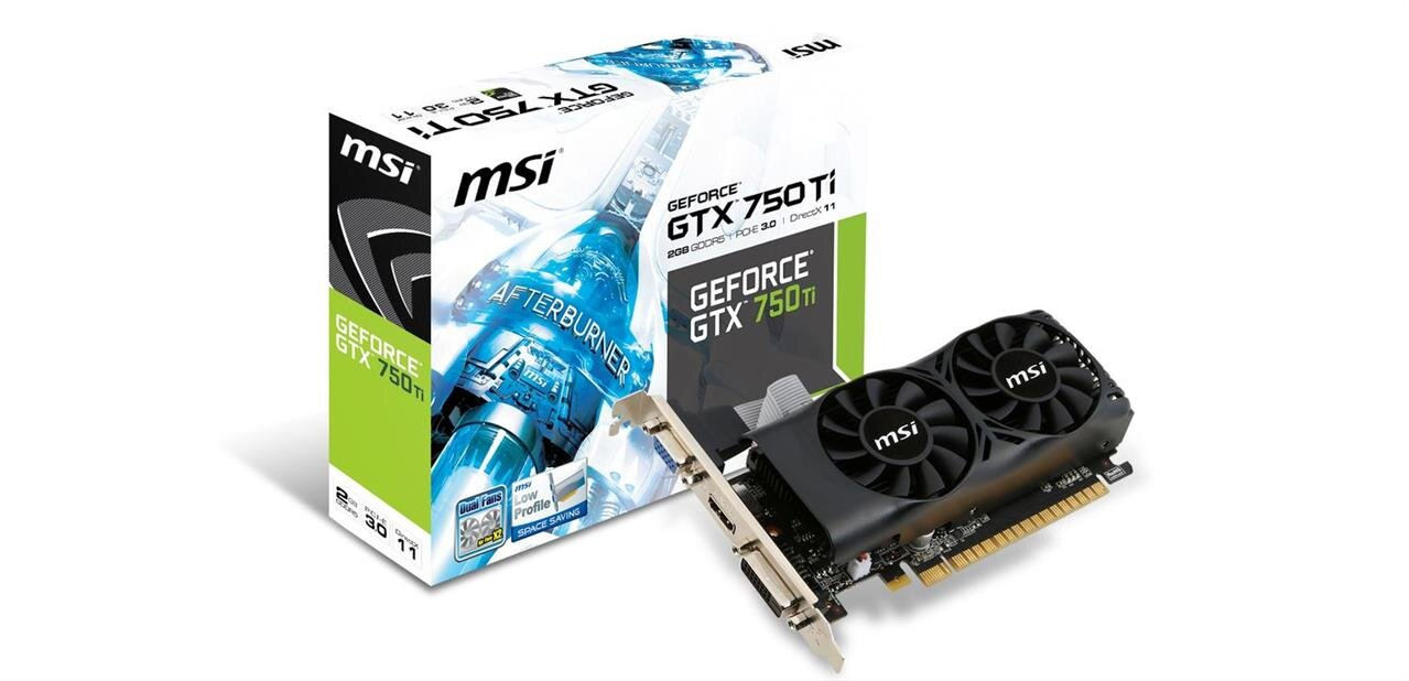 Carte graphique MSI GTX 750 Ti 2 Go (Low profile) : 94,90 €