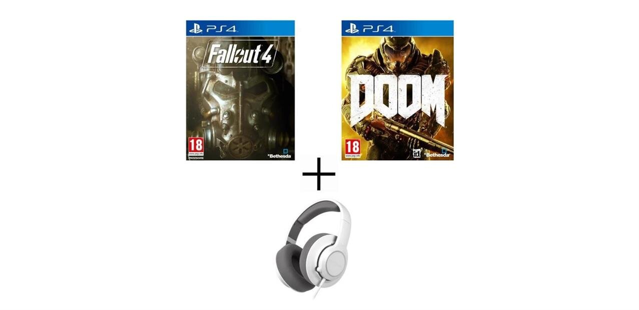 Pack PS4 : DOOM, Fallout 4 et casque Siberia Raw à 85,99 €