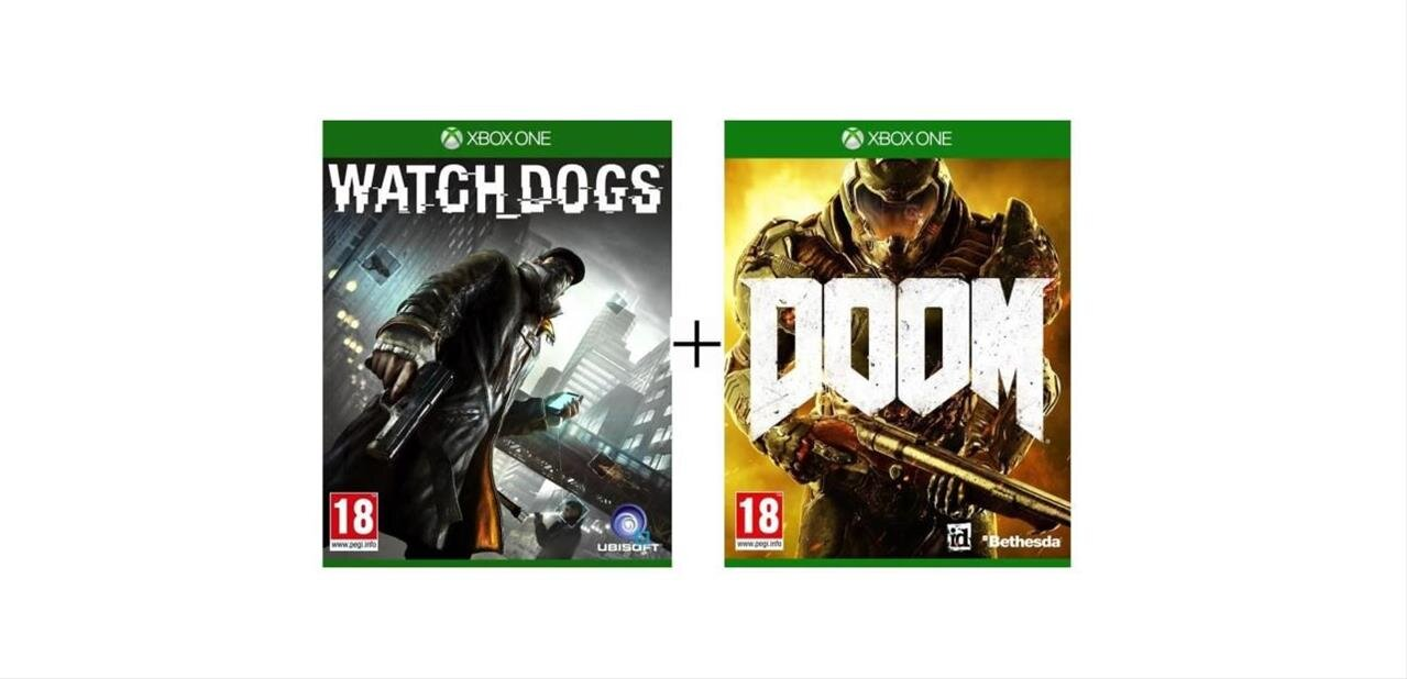 DOOM et Watch_Dogs sur Xbox One pour 49,99 €