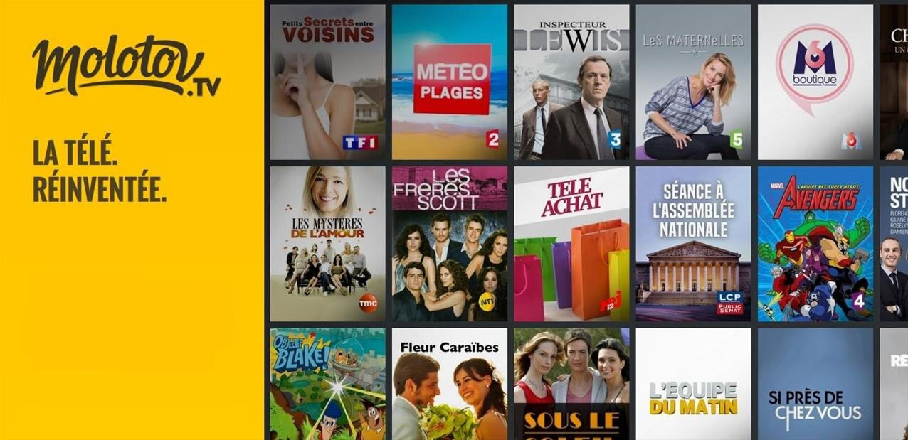 Molotov est disponible sur la Fire TV Stick d'Amazon