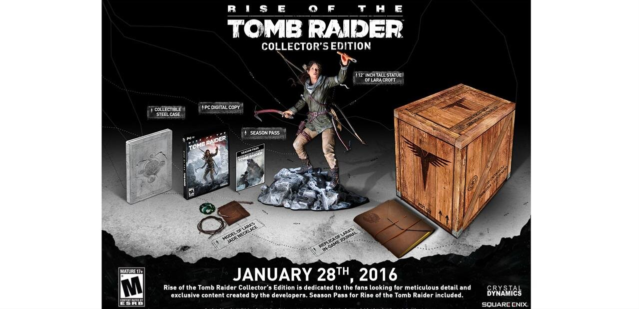 Rise of The Tomb Raider Edition Collector sur PC : 47,90 € avec le code CHUTE