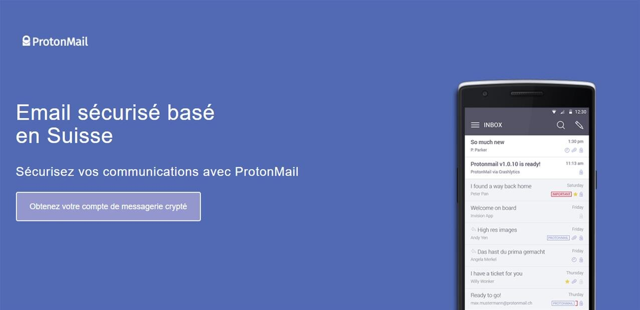 ProtonMail répond à Google sur le terrain de la sécurité