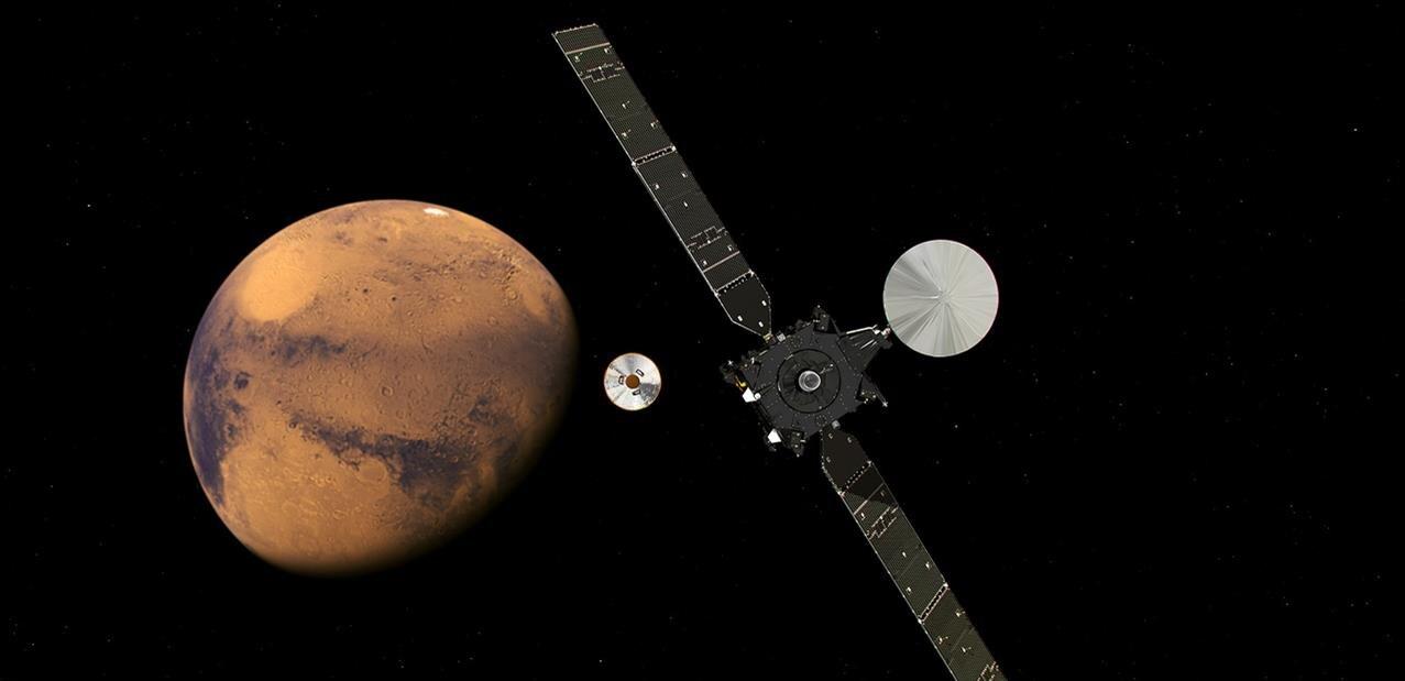 Les premiers résultats de TGO (ExoMars), en orbite autour de la planète Mars