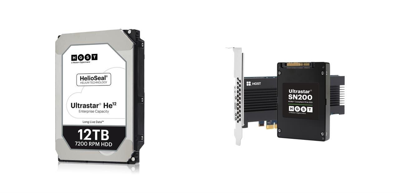 HGST annonce des disques durs de 12 et 14 To, des SSD de 7,68 To à 6,1 Go/s