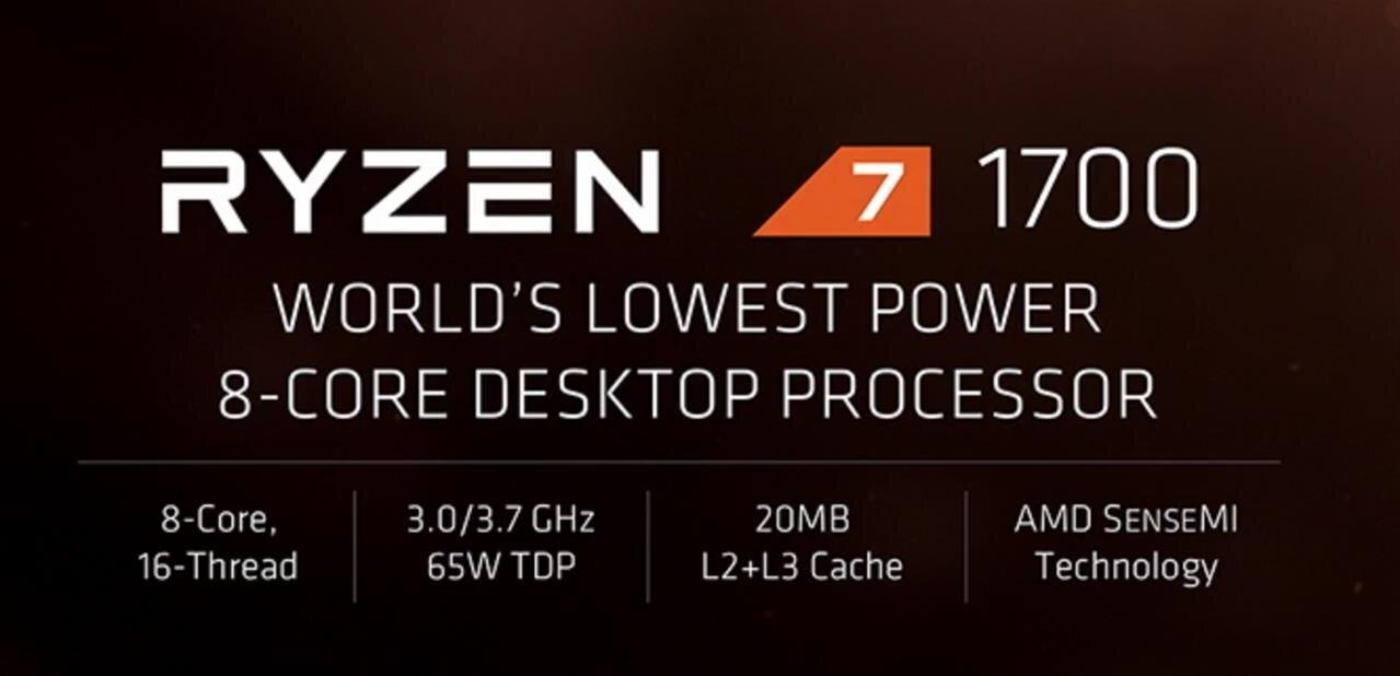 AMD Ryzen 7 1700 (8C/16T) : 169,11 €