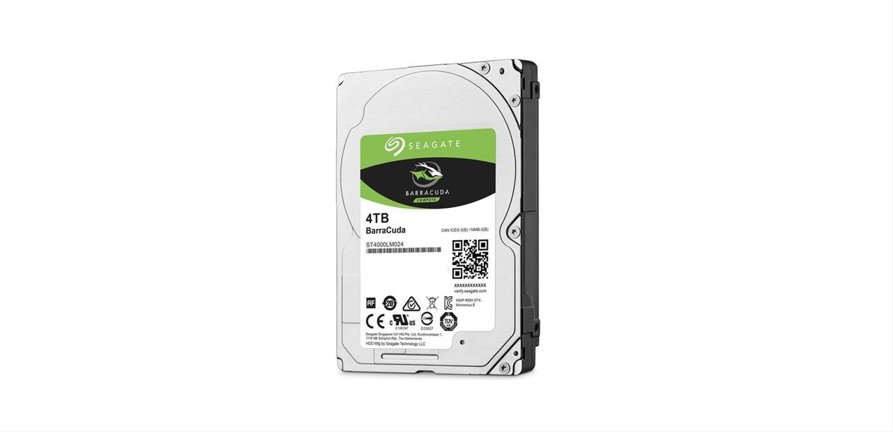 Disque dur Seagate BarraCuda de 4 To (5 900 tpm) : 99,99 euros