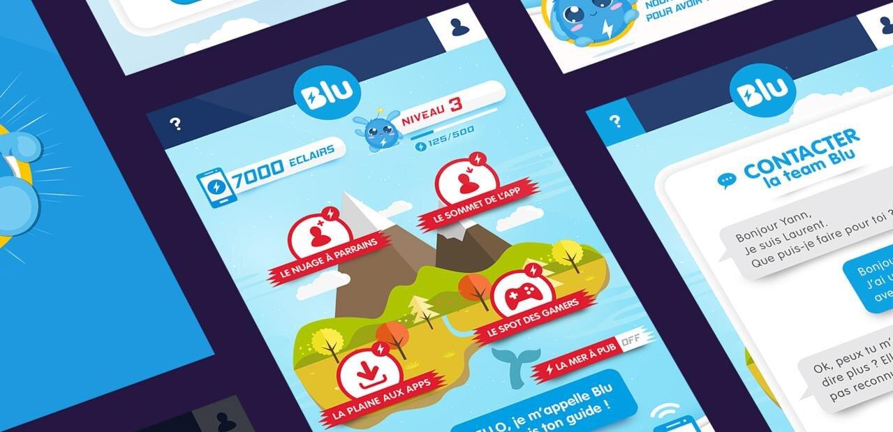 Forfait « gratuit » avec publicité Blu : en un an, plus de 100 000 000 d'éclairs distribués