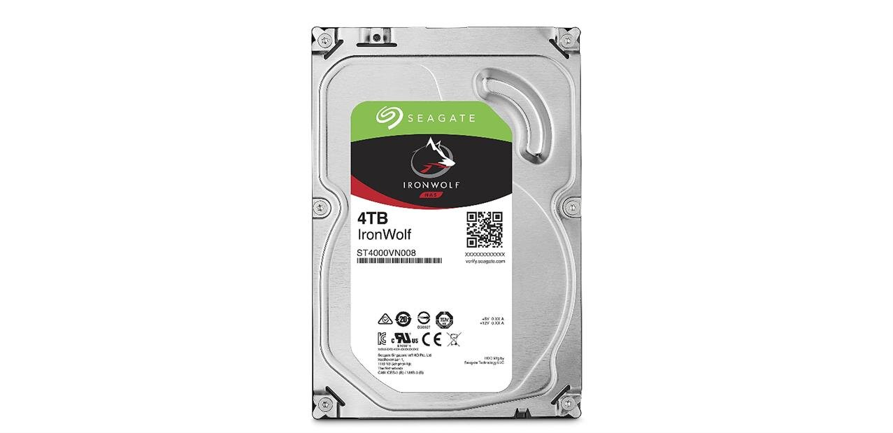 Disque dur Seagate IronWolf de 4 To : 119,90 euros