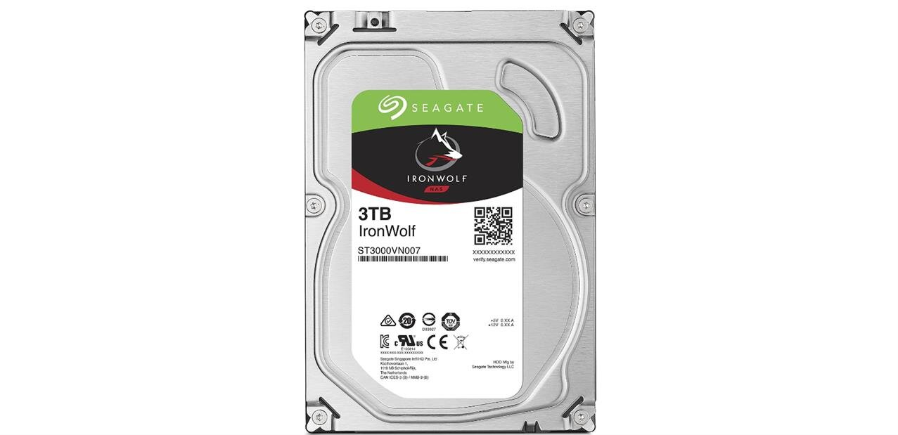 2 disques durs Seagate Ironwolf de 3 To : 179,90 euros