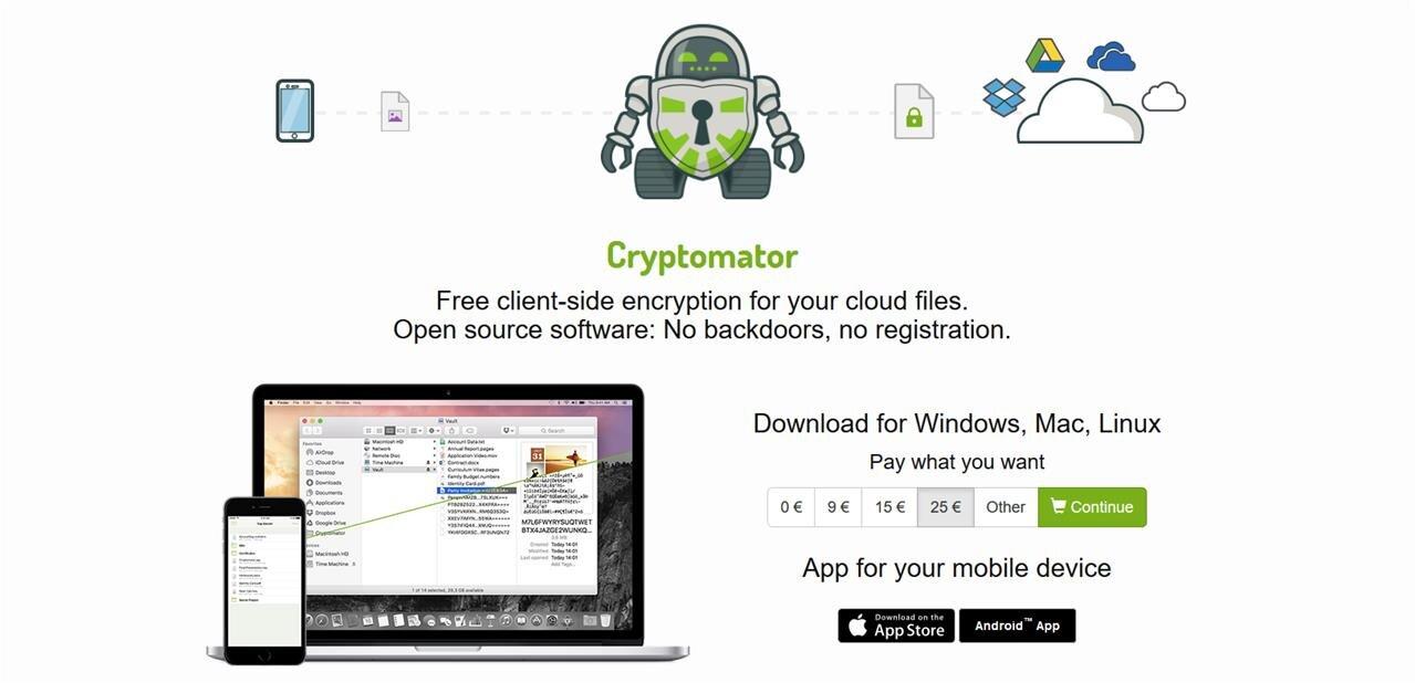 Chiffrement de fichiers : Cryptomator 1.4 abandonne WebDAV comme protocole par défaut