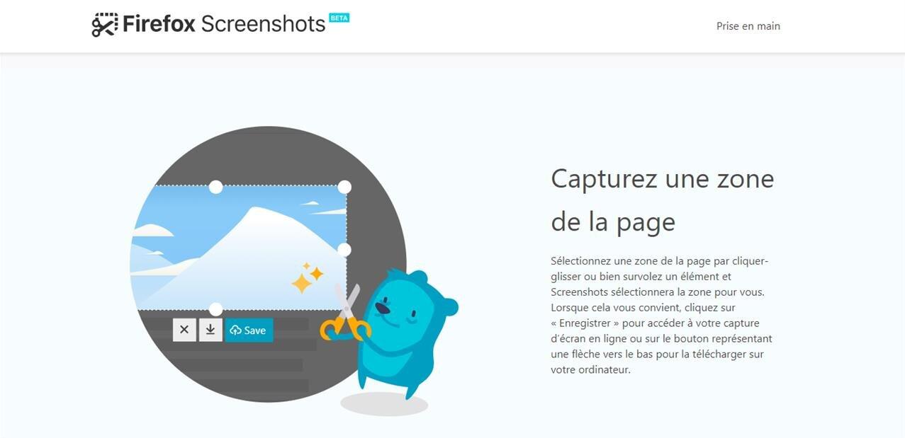 Firefox 56 : Screenshots, remplissage de formulaire et transfert d'onglet