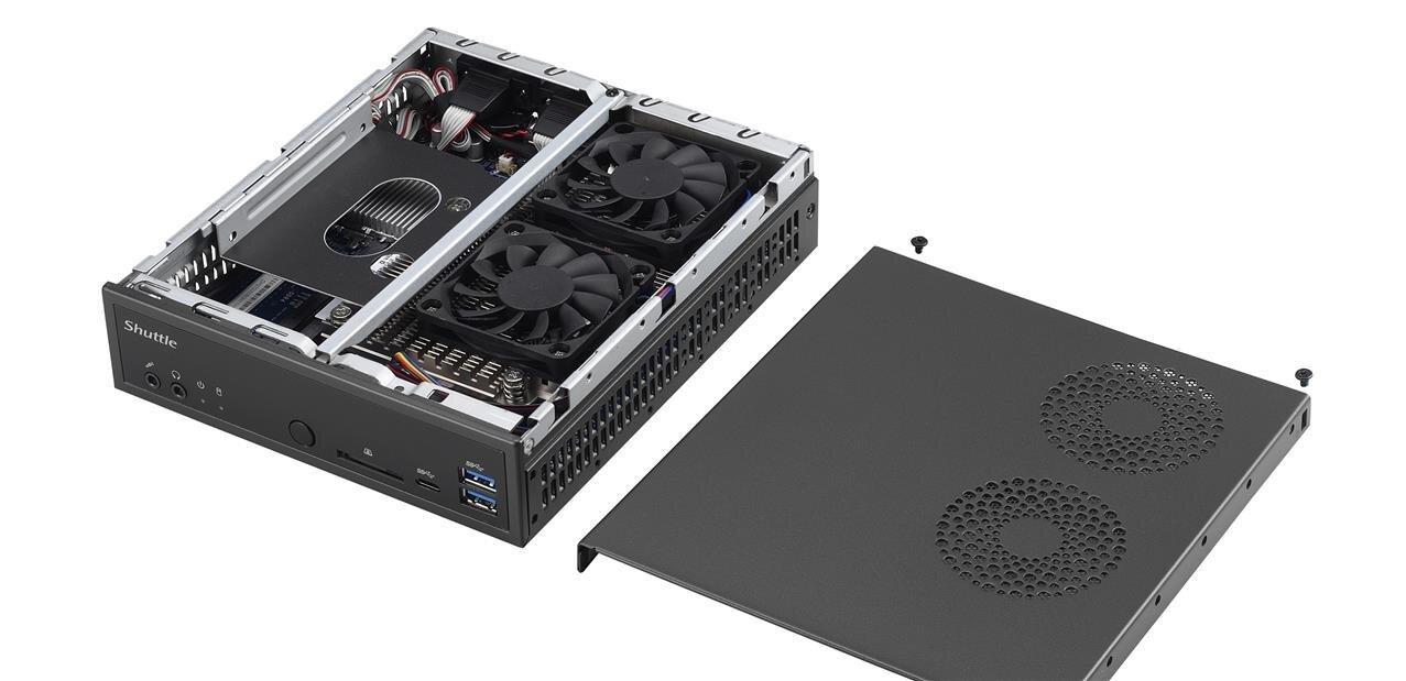 Shuttle annonce son mini PC DH270 avec trois sorties HDMI, dont une 2.0