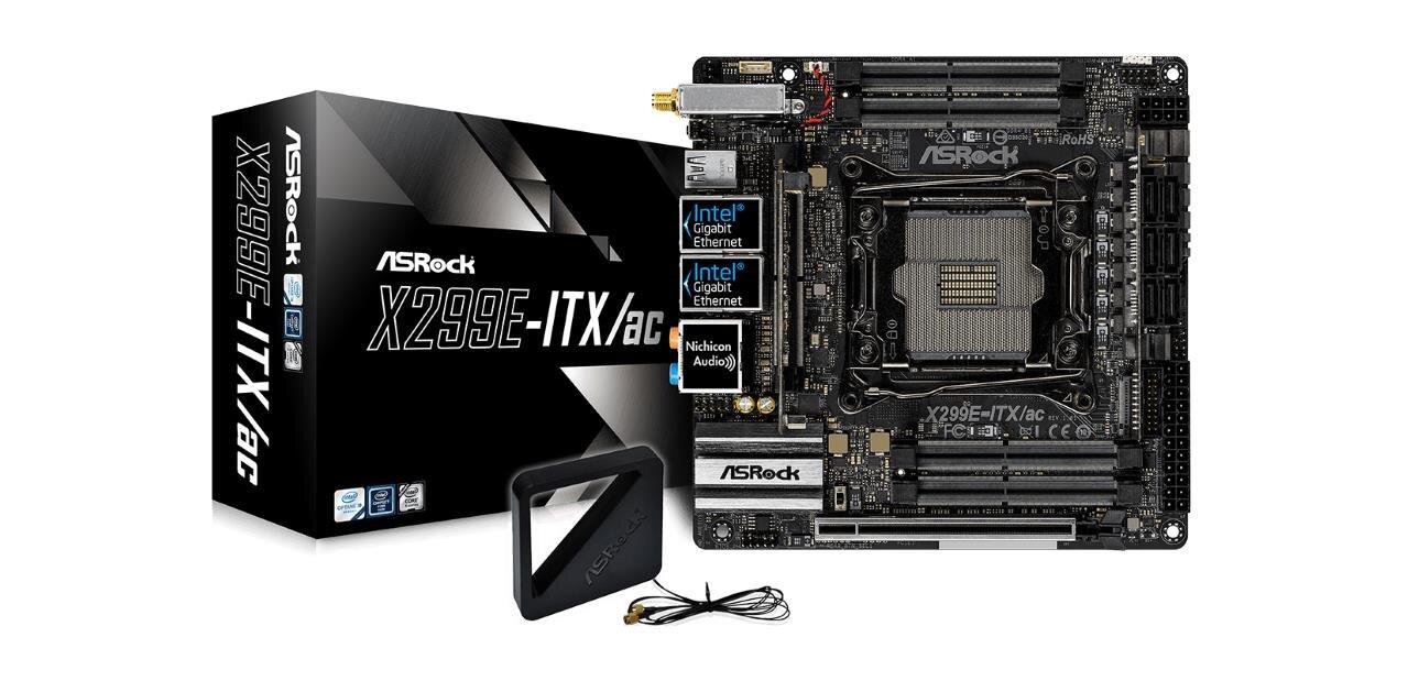 X299E-ITX/ac, ASRock met sur le marché sa carte mère LGA-2066 ultra-compacte