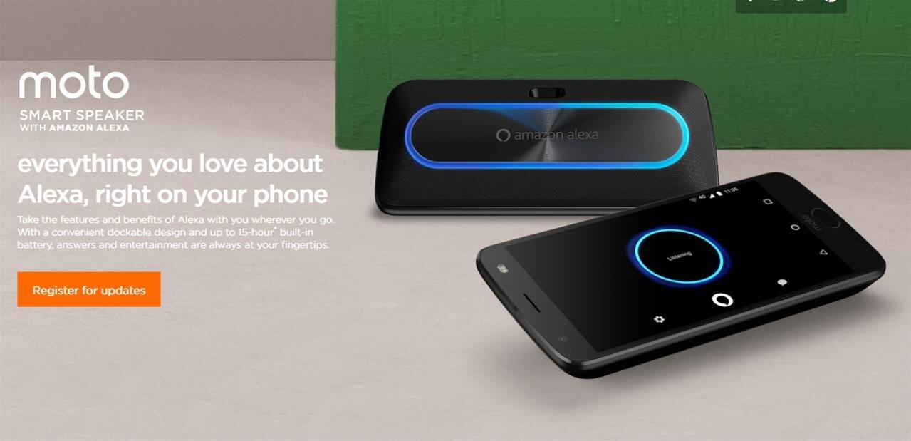 Alexa est partout, même dans le module Smart Speaker pour smartphones Moto Z