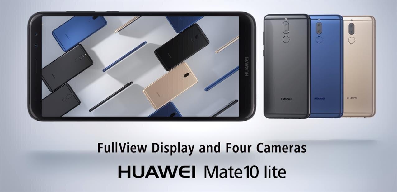 Huawei lance son Mate 10 Lite avec quatre capteurs optiques, disponible pour 349 euros