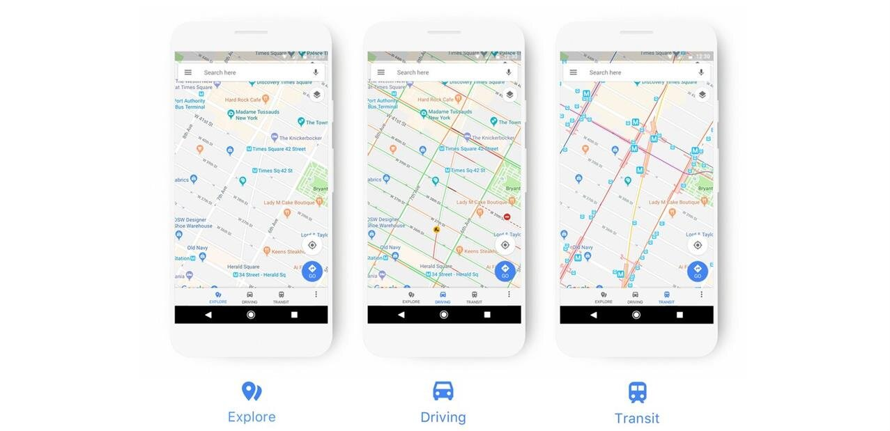 Google Maps change de look