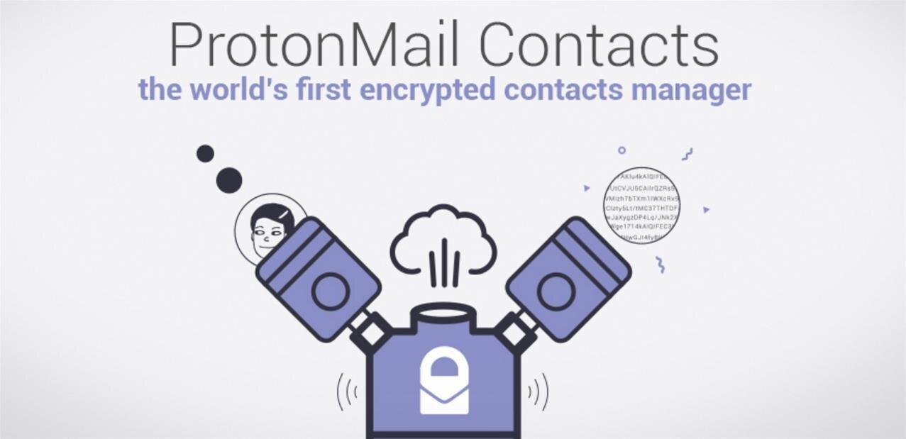 ProtonMail va stocker des clés PGP publiques dans son gestionnaire de contacts chiffré