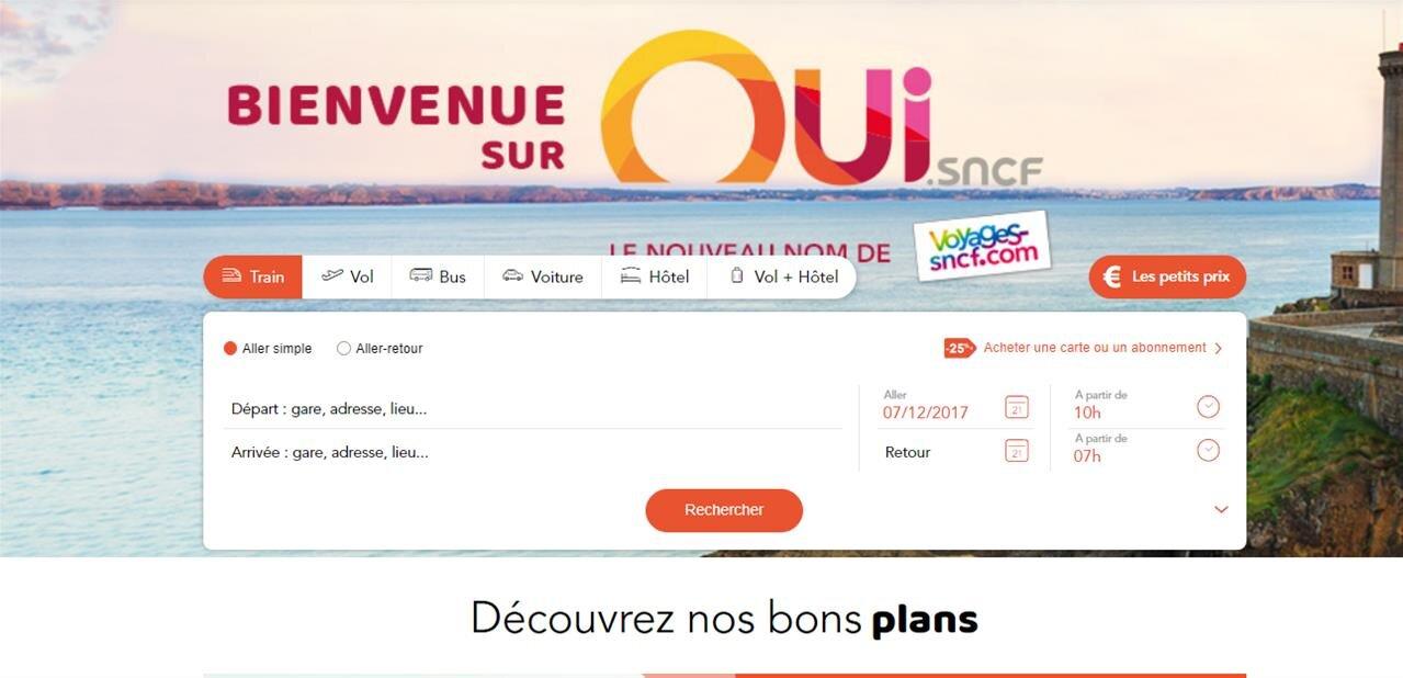 C'est fait, Voyages-SNCF devient Oui.sncf