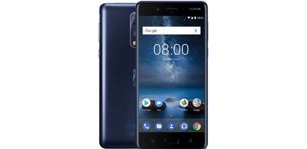 """Smartphone Nokia 8 de 5,3"""" (1440p, 64 Go, Snapdragon 835) à 349 €"""