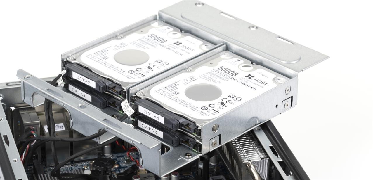 Quatre HDD/SSD dans un mini PC « Slim » de Shutlle