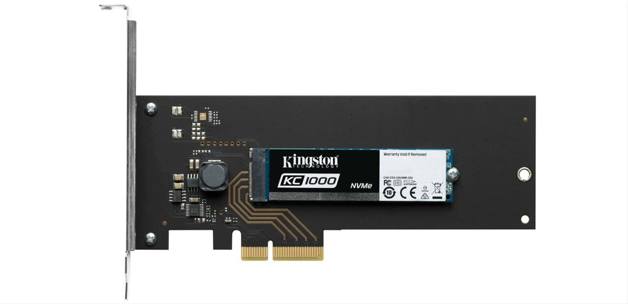 SSD Kingston 960 Go KC1000 (NVMe, M.2, PCIe) à 249,99 euros #soldes