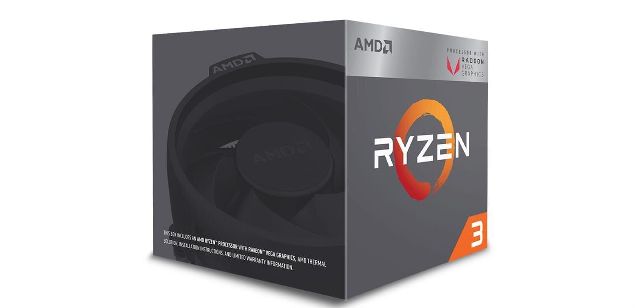 Processeur AMD Ryzen 3 2200G (avec Radeon RX Vega) : 80,66 €