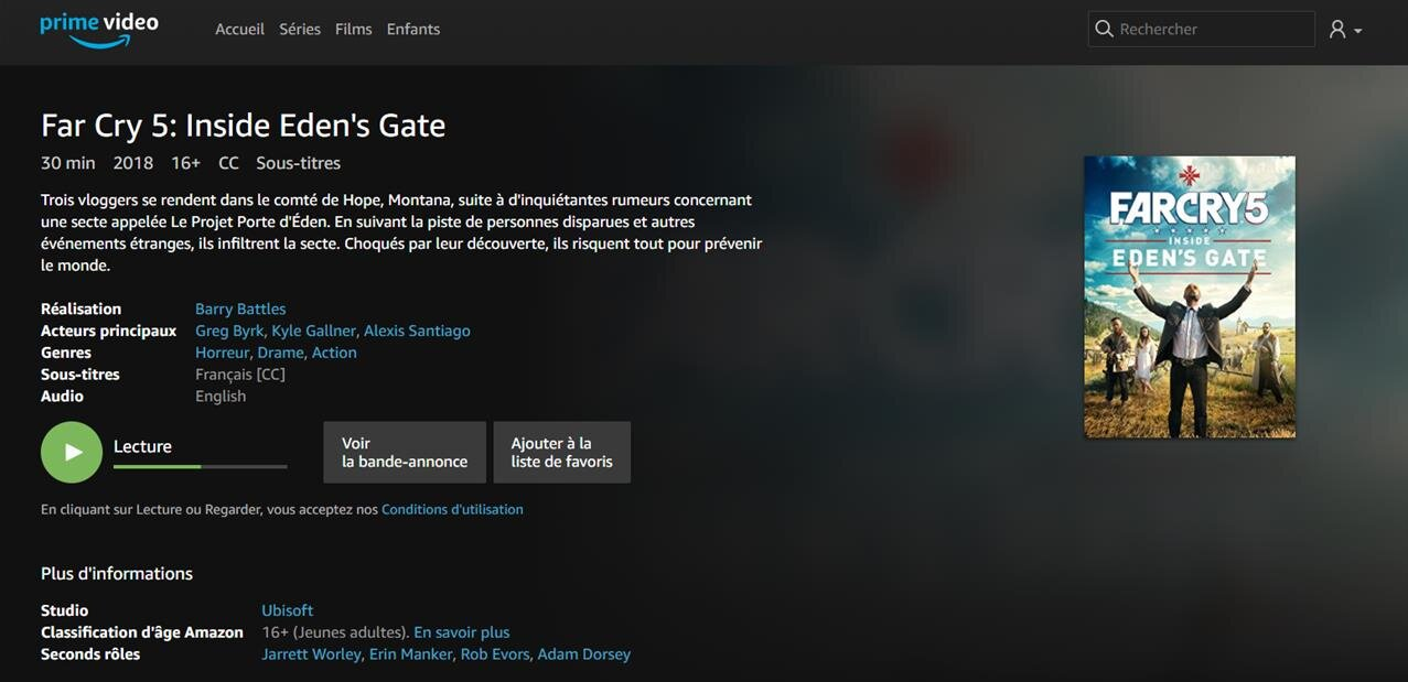 Inside Eden's Gate : Amazon Prime Video fait la promo de Far Cry 5 avec un faux documentaire