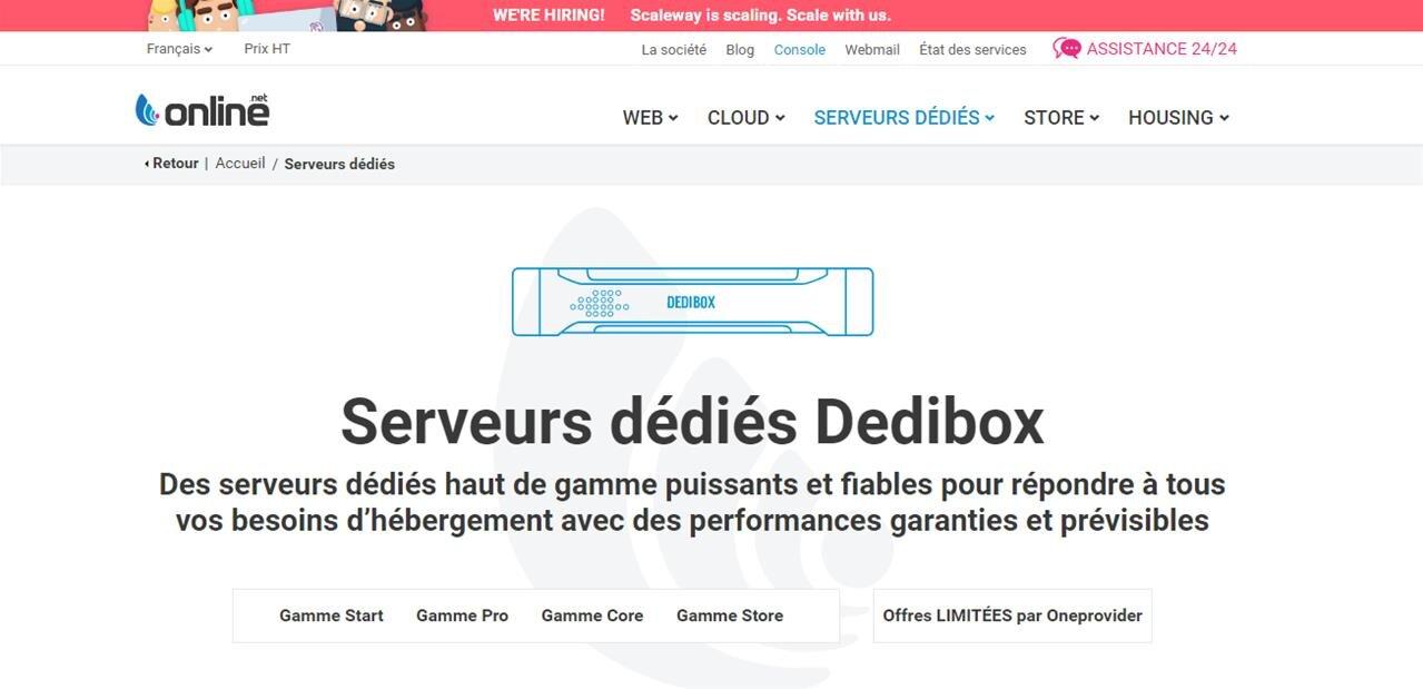 Serveurs dédiés : Online « dépoussière » son catalogue Dedibox