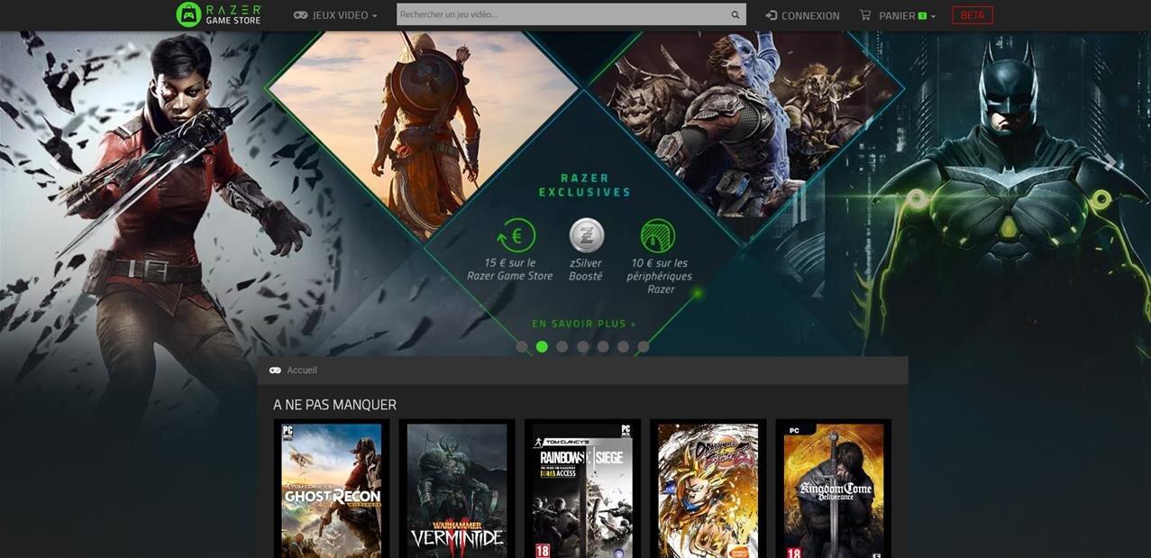 Le Razer Game Store tire sa révérence moins d'un an après son lancement
