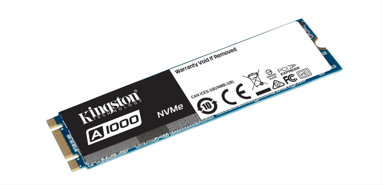 SSD Kingston  A1000 M.2 NVMe de 240 Go (1,8 Go/s) : 59,90 euros