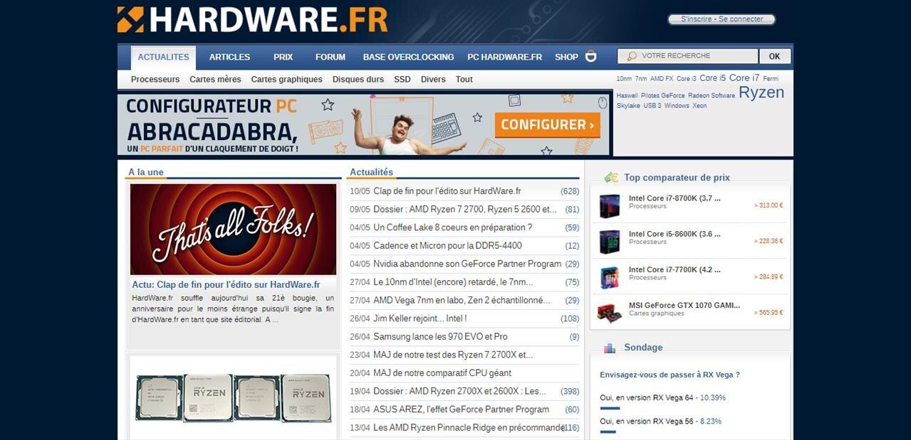 Hardware.fr cesse son activité éditoriale au profit de sa boutique et du forum