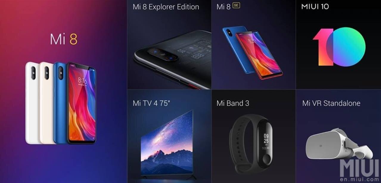 Pluie d'annonces Xiaomi : Mi 8, Mi Band 3, Mi TV 4, Mi VR Standalone, MIUI 10…