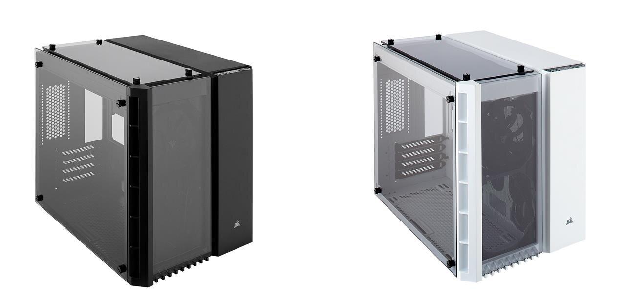 Boîtiers avec verre trempé, DDR4 RGB et blocs d'alimentation chez Corsair