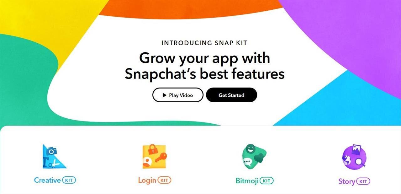 Snapchat s'ouvre aux développeurs avec Snap Kit, comprenant Login, Creative, Bitmoji et Story Kit