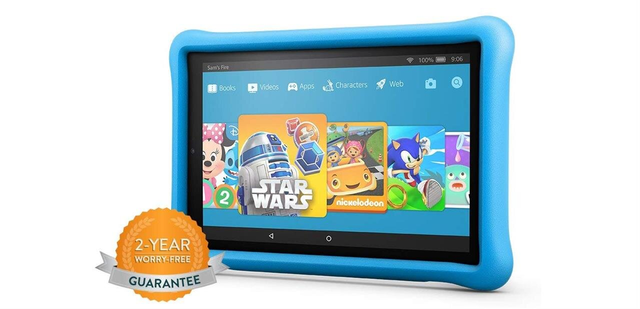 Amazon Fire : une tablette HD 10 Kids Edition, des stations d'accueil Show Mode